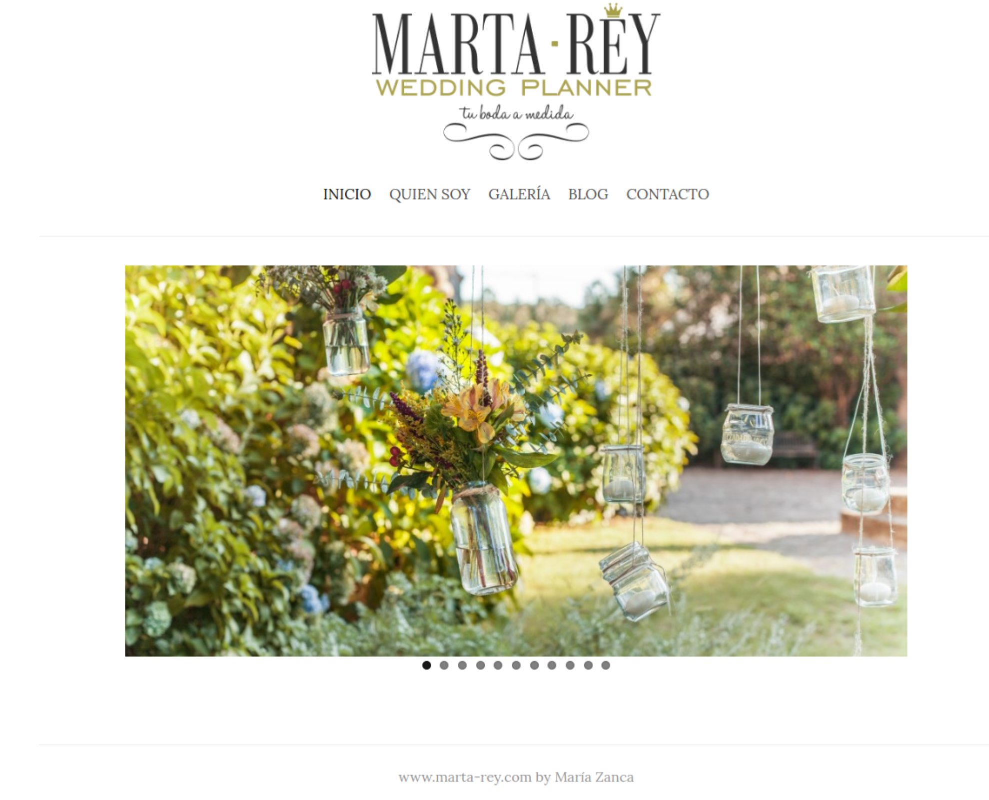 web marta-rey wedding planner
